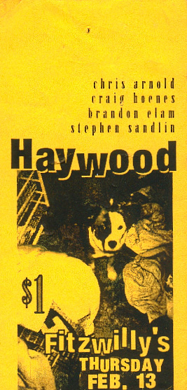 The first Haywood show