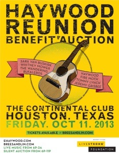 Oct 11, 2013,  The Continental Club,  Houston, TX